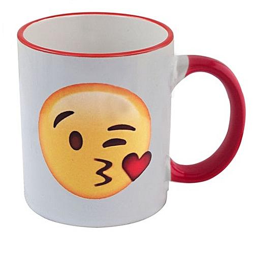Kiss Emoji coffee mug