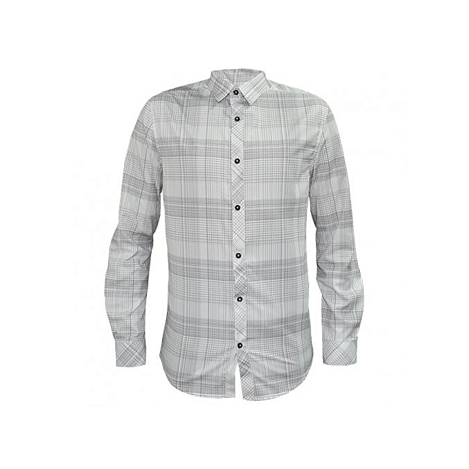 White Checked Men's Casual Shirts