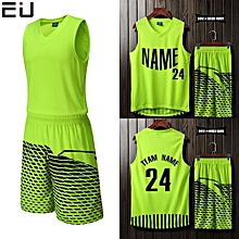 Blank Customized Casual Men's Basketball Team Sport Jersey Uniform-Green(3052)