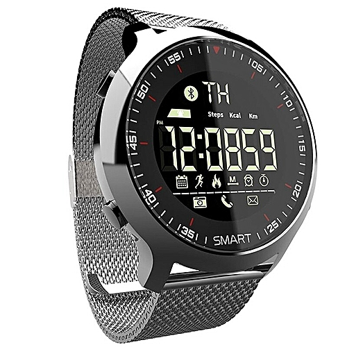 4047aac05105 Generic Bluetooth Smart Watch Men Women Unisex Smartwatch Call Message  Reminder Pedometer Sport Fitness Tracker for iOS Android Phone(#Silver)