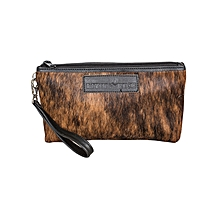Brown- Black Fur Cosmetic Bag