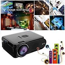 Uhappy U90 7000 Lumens 3D Projector 1080P HD LED Theater Cinema VGA USB SD HDMI UK Plug