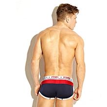 singedanMens Boxer Underpants Knickers Sexy  Briefs Shorts Underwear Breathable Pants -Dark Blue