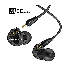 LEBAIQI MEE audio M6 PRO Universal-Fit Noise-Isolating Musician's In-Ear Monitors with Detachable Cables (black)