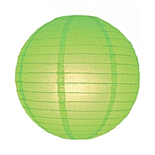 "Chinese Lanterns / Ball Lampshades - Silk Fabric 14"" lime green"