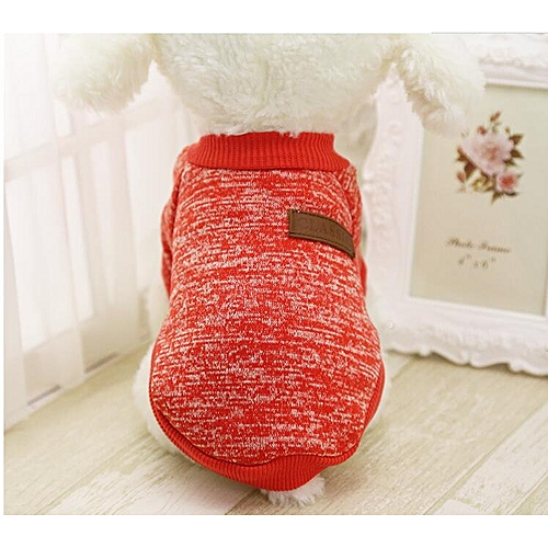 New Pet Dog Clothes For Small Dogs Winter Warm Coat Sweater Puppy Chihuahua Cheap Clothing For Dog Roupa Para Cachorro Red