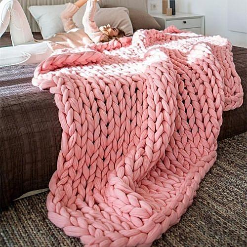 Universal 100 80 Soft Warm Hand Chunky Knit Blanket Thick Yarn Wool