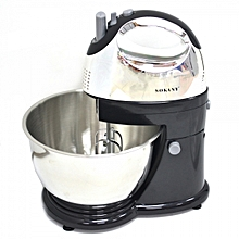 Electric Hand Mixer Dough Mixer with Bowl-Powerful 400W motor handles