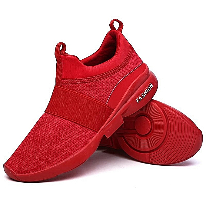3a96e1402d3 Fashion New Fashion Men's Casual Running Sport Shoes Man Breathable Flats  Shoes(red)