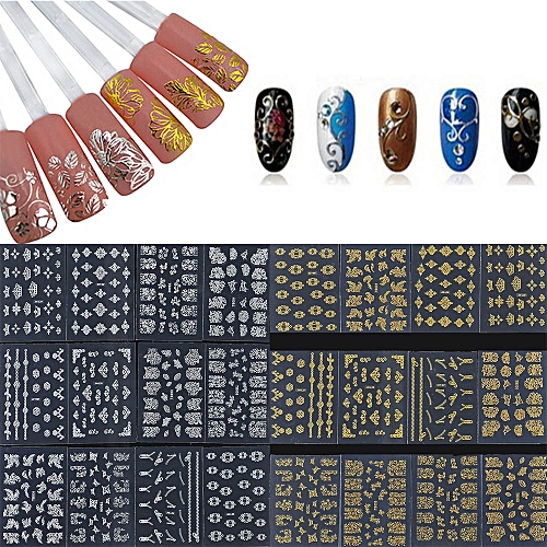 Buy Neworldline 12 Pcs Flower 3d Nail Art Stickers Decals Manicure