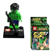 Freebang Justice League Avengers Super Hero Mini Figure Building Block Bricks Kids Toy (Hulk)