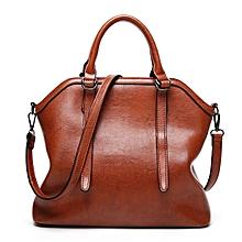 Women High Quality PU Leather Vintage Elegant Functional Handbag Shoulder Bag