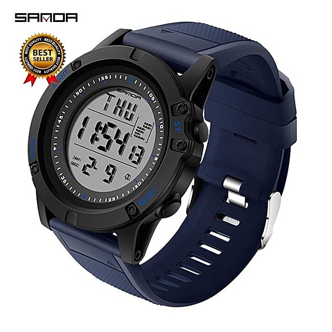 Sanda Military Countdown Sport Watch Men G Shock Led Digital Watch Waterproof Electronic Men Watches Relogio Masculino 372