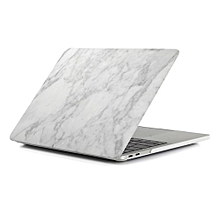 """15"""" Pro (USB-C Port) Case, Marble Hard Rubberized Cover For 2016-2018 Macbook 15.4 Pro With Touch Bar, White/Grey"""
