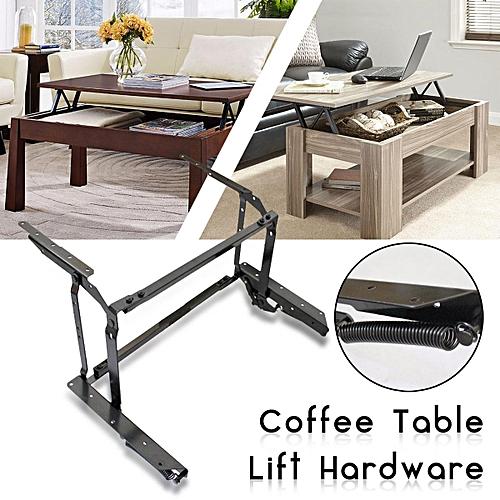 Black Coffee Table Lift Top DIY Hardware Fitting Furniture Mechanism Hinge Frame