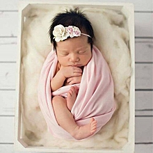 Newborn Baby Boy Stretch Wraps Blanket Posing Cover Swaddling Photography Prop