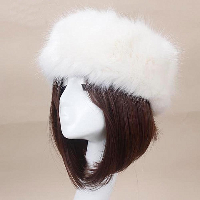 77905ffa7de Tectores Fashion Trend Winter Faux Fox Fur Hat Male Cap Men Women Soft Ski  Headdress BG