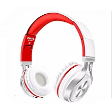 Olivaren  Wireless Bluetooth Foldable Headset Stereo Headphone Earphone For Samsung S9   -Red