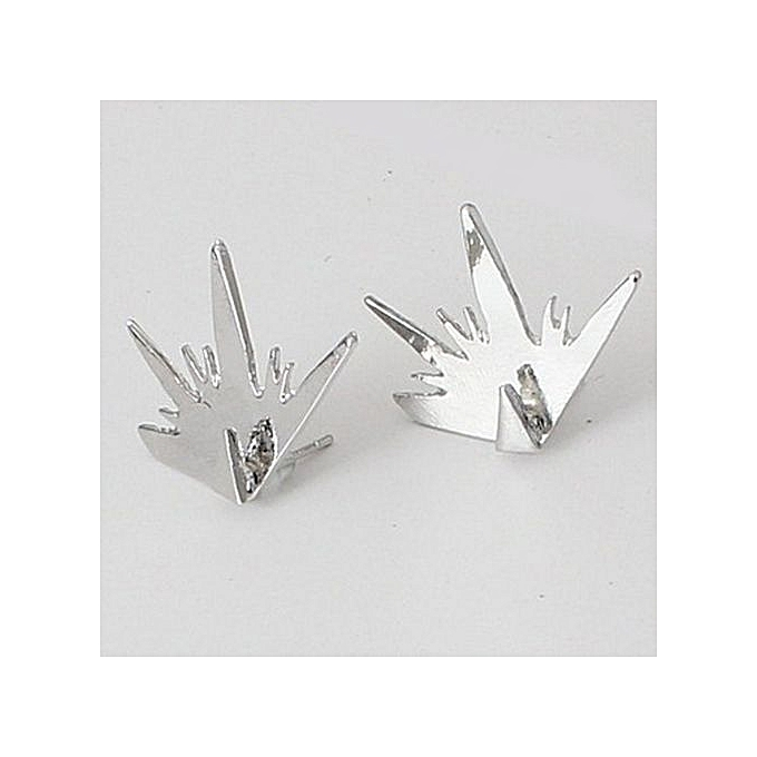 New Arrival Women S Luxury Exaggerated Crystal Alloy Triangle Ear Studs Earrings