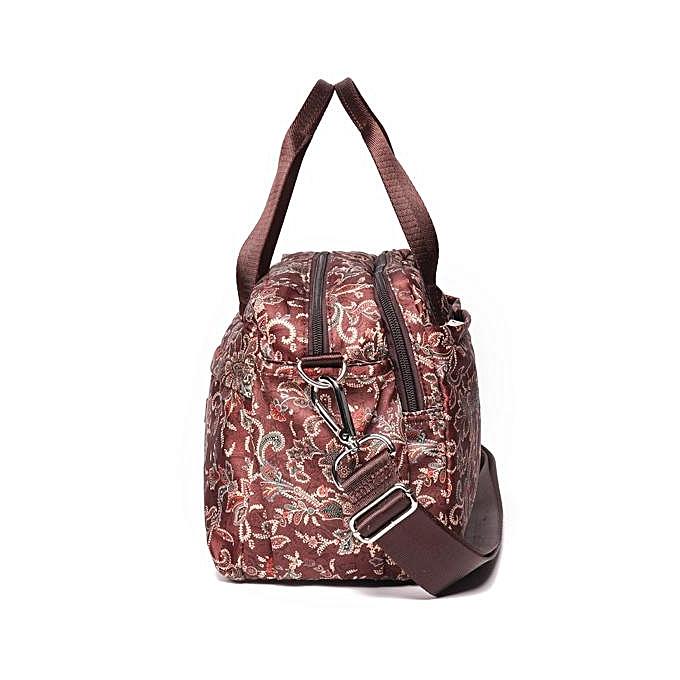 cec2ff420ec2 ... Brenice leisure life lightweight large handbags ethnic retro printed  nylon cloth handbag shoulder bag ...