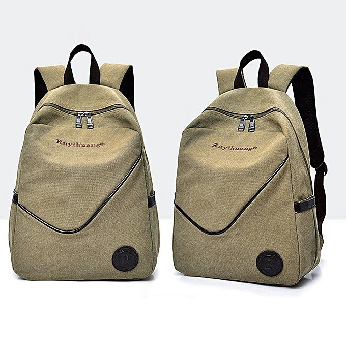 07893aaaf885 Africanmall store Casual Men Canvas Backpack School Travel Student School  Laptop Bag -Khaki