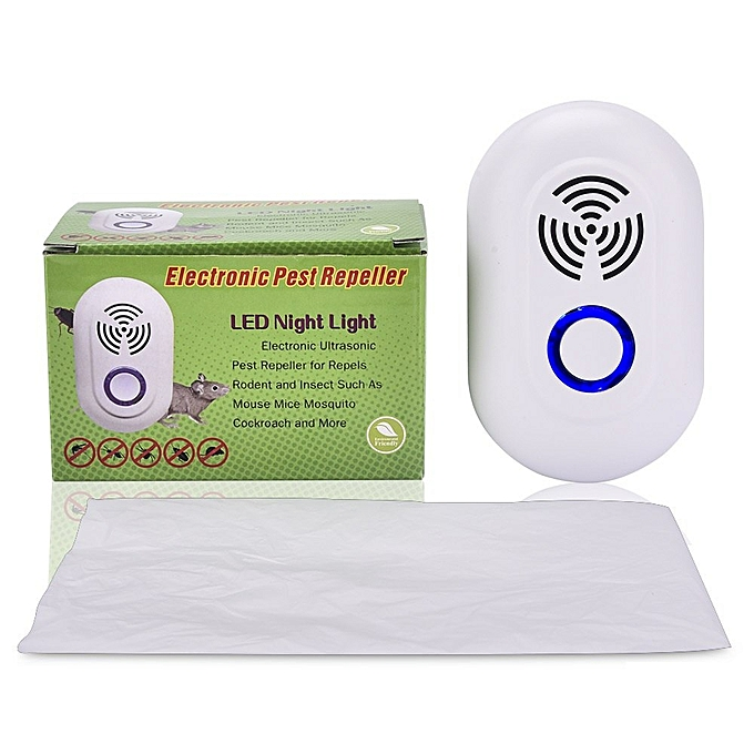 2pcs Electronic Ultrasonic Pest Repeller Insect Rejector Mice Control  Mosquito Repellent For Cockroach Rat Bugs Pests Rejection UDOKA