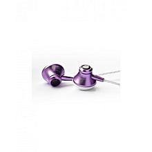 In-Ear Wired Earphones - Purple