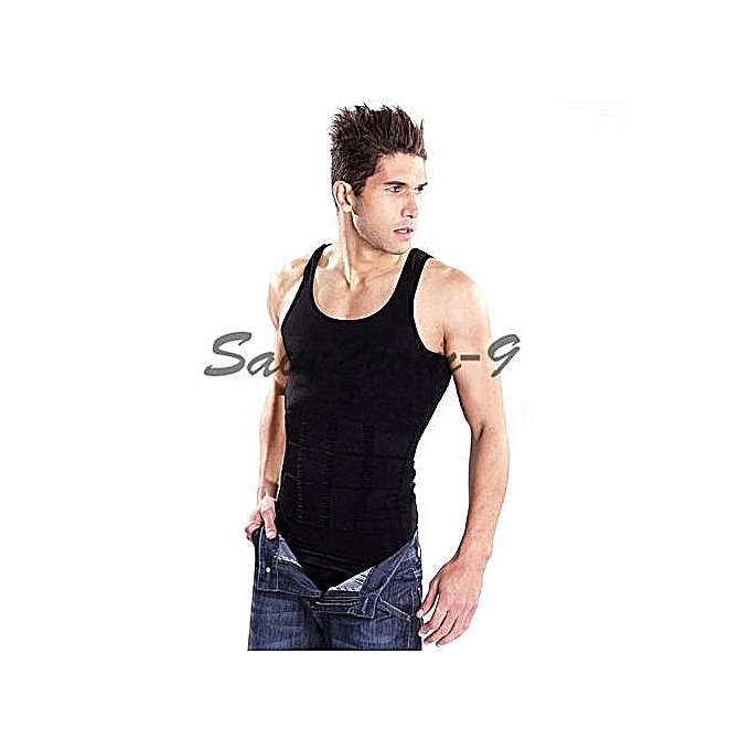 740a87b2bb29b GENERAL Men s Body Shaper Vest Slimming Tummy Shaper Black   Best ...