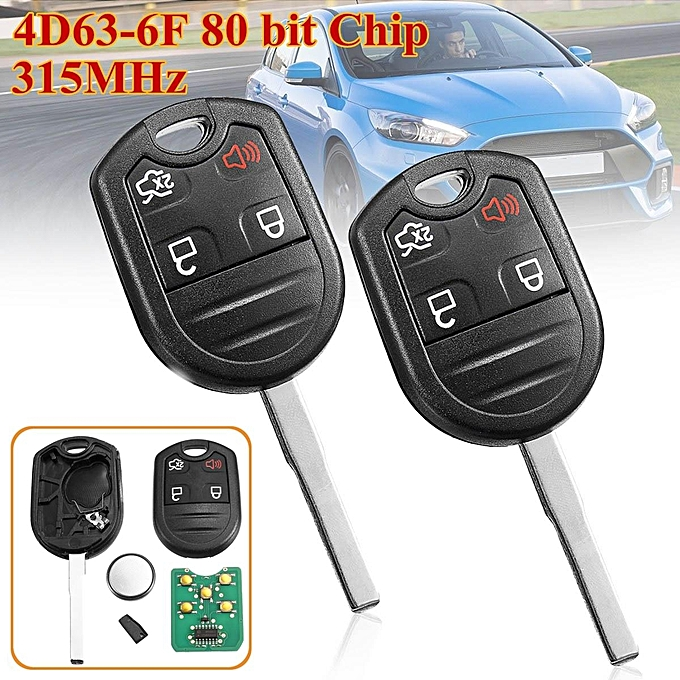 Pcs  Buttons Remote Key Fob With D Bit Chip Mhz For Ford