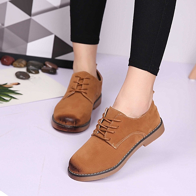 8549c75bb1b Women Flats Fashion Shoes Casual Loafers Ladies Shoes Four Seasons Shoes  BW 35-Brown