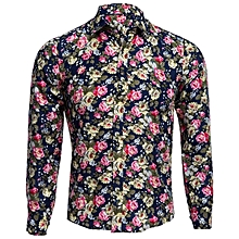 Male Floral Print Casual Shirt - Colorful
