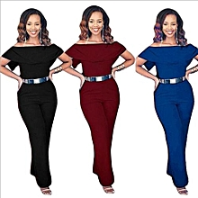 Hot Fashion Women Ladies Clubwear Summer Playsuit Bodycon Party Jumpsuit Romper Trousers-blue