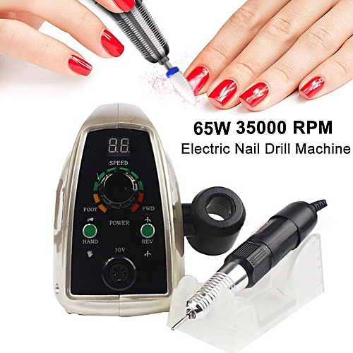 Buy Generic 65w 35000rpm Professional Electric Nail Drill Machine