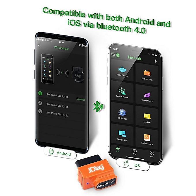 JDiag Faslink M2 Bluetooth 4 0 Bluedriver OBDII Car Diagnostic Tool OBD2  Automotive Code Reader
