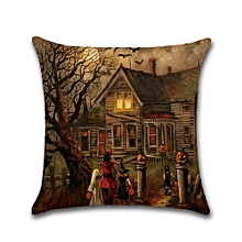 Halloween series Square Pillow Cover Cushion Case Pillowcase Zipper Closure