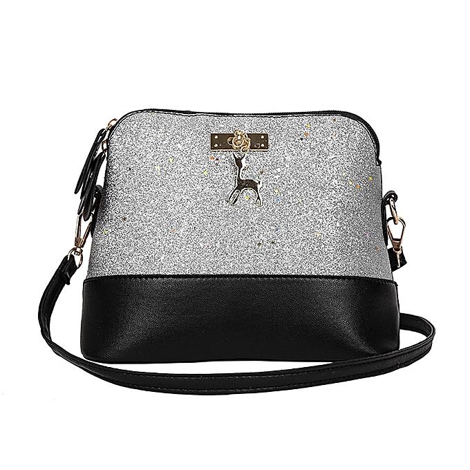 a2278dec5e41 Xiuxingzi Womens Leather Crossbody Bag Sequins Small Deer Shoulder Bags  Messenger Bag