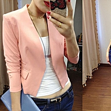 Women Long Sleeve Loose Lapel Slim Suit Outwear Blazer Coat Jacket