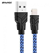 CL - 700 1M 8 Pin 2.1A Charging Cable For IPhone - Blue