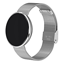 Blood Pressure Tracker Smartband Health Smart Watch Heart Rate Alcohol Allergy Silver