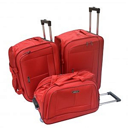 Trolley Travelling Bag Red