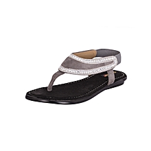 Women's Gun Metal Evening Sandals