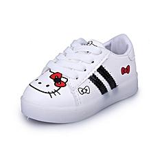 New Stylish Hello Kitty Led Shining Baby's White Shoes