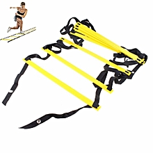 8M 21-rung Agility Ladder For Speed Soccer Football Fitness Feet Training Yellow-