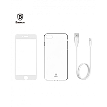 TZAPIPH7-A01 - Film/Case/Cable Durable Charging Protection Suit For IPhone 7 - White