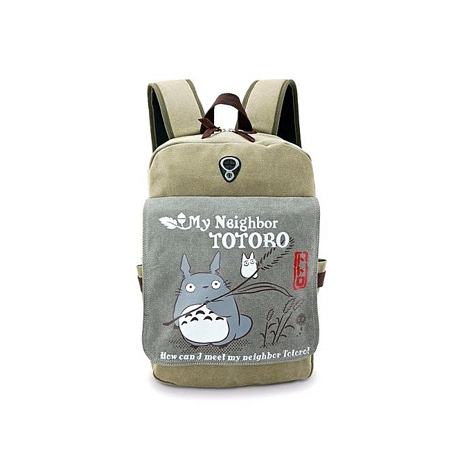 df2bac3d35fb ... Kisnow Japan Fashion High Quality Retro Canvas Anime Backpacks(Color As  Main Pic)