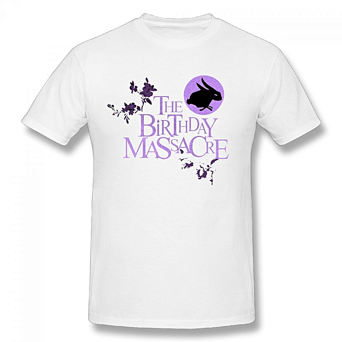 The Birthday Massacre Mens Cotton Short Sleeve Print T Shirt White