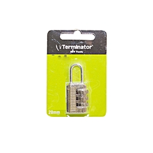 TPL 2320/SLVR - Padlock with Sealed Blister Packing (20mm) - Silver