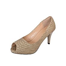 Khaki Slip On Women's Heels