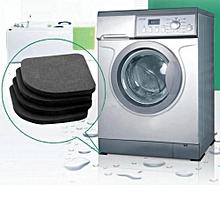 4pcs Black Square Washing Machine Anti Vibration Pad Refrigerator Mute Mat Pads
