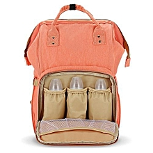 Portable Baby Diaper Bag for Travel - Orangepink